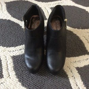 BRAND NEW Black Leather Ankle Boot